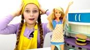 Куклы ЛОЛ в кафе у Барби. Видео для девочек