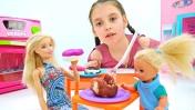 Мультик с Барби: Штеффи готовит торт. Видео для девочек