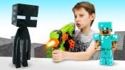 Эндермен просит о помощи. Игрушки Майнкрафт: видео для детей.