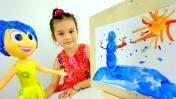 Видео для девочек - Леся и эмоциональная картина. Детское творчество