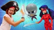 Леди Баг и Супер Кот отправляются в плавание. Видео для детей.