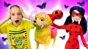Штеффи и Леди Баг в зоомагазине. Видео для девочек с игрушками.