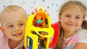 Видео для детей. Запуск ракеты Свинки Пеппы