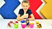 Видео для детей. Плей До мороженое для игрушек Щенячий патруль