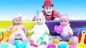 Беби Бон сбежали из песочницы. Смешное видео с куклами Baby Born. Играем в куклы