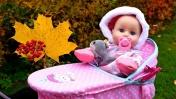 Беби Аннабель спит в коляске. Видео с куклами Беби Бон. Мультики для девочек Как мама