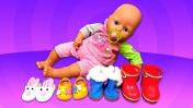 Беби Анабель: Обувь для куклы. Что в шкафу у Аннабель? Как мама Беби Бон