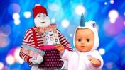 Дед Мороз для Беби Бон - Открываем подарки! Новогоднее видео Как мама