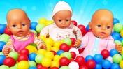 Развлечения Беби Бон - Бассейн с шариками. Развивающие мультики Как мама