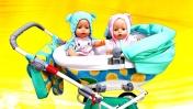 Большая коляска для Беби Бон - Куклы пупсики - Видео для детей Как мама
