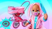 Коляска Беби Бон СЛОМАЛАСЬ! Видео для девочек Как мама - Развивающие мультики