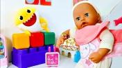 Беби Аннабель: Кенгуру-переноска для Беби Бон. Играем в куклы. Дочки-матери Как мама