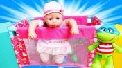 У беби Анабель новый МАНЕЖ! Игры для девочек в дочки матери. Видео с куклами