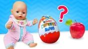 Беби Бон Как мама - Киндер сюрприз или яблоко? Полезная еда - Мультики для детей