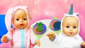 Готовим БЛИНЧИКИ для кукол Беби Бон - Смешные видео. Готовим вместе Как мама