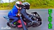 Покатушки с девушкой на мотоцикле по городу