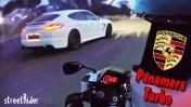ГОНКА С ПОРШЕ | Porsche Panamera Turbo vs Suzuki GSX-R 600