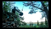 Строим КАМЕННЫЙ ДОМ в ГОРАХ - Деревянный КРАН, ВОДОСБОР, ЛОВУШКА, Лесная КУХНЯ