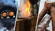 ТУРБО-КОСТЕР - ХЛЕБОПЕЧКА СВОИМИ РУКАМИ В ЛЕСУ - ДРОВА ПО-НОВОМУ | ПРОСТЫЕ СОВЕТЫ ДЛЯ ЛЕСА