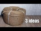 3 простые идеи использования джутового каната