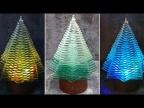Сделал потрясающую стеклянную Новогоднюю елку. Такого видео еще нет в Ютуб