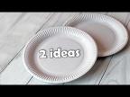 2 идеи красивой утилизации ненужных тарелок