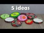 5 потрясающе простых идей из крышек от банок