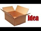 Из обычной картонной коробки сделал интересную полочку для кухни
