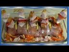 Рыба в духовке, запечённый лосось, Кета, или горбуша с Копчёным салом, Сочно и очень вкусно!