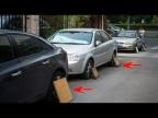 Зачем опытные водители прикрывают колёса автомобиля картонкой или фанеркой? Факты про авто!
