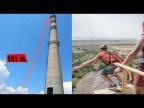 Прыжок с трубы 101 метр! Экстрим, адреналин и море позитива / Роупджампинг в Одессе!