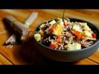 АСМР Гречневая Лапша Соба с Тофу, овощами и Сливками