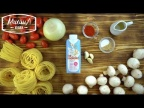 Моя любимая паста в сливочно-грибном соусе | быстрый рецепт
