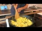 Омлет без яиц, готовится из соевого творога - ТОФУ (веган рецепт)
