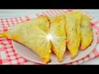 Быстрые пирожки (слойки) с клубникой в духовке за 15 минут