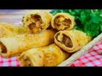 Хрустящие трубочки с капустой в духовке - бомбезный рецепт! Постный рецепт