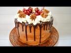 Шоколадные подтеки на торте. Рецепт глазури - просто и быстро