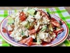Салат без майонеза: с курицей и сыром Фета - очень пикантный, обалденный!