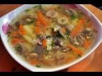 Вкусный суп с шампиньонами и пшеном