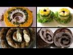 Мясные закуски и салаты, новогоднее меню/Meat appetizers and salads