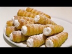 СЛОЁНЫЕ ТРУБОЧКИ С КРЕМОМ как в детстве / Cream rolls