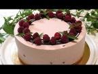 Из простых продуктов МУССОВЫЙ ТОРТ с малиной. /Raspberry mousse cake