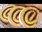 """БИСКВИТНЫЙ РУЛЕТ с повидлом """"ФРУКТОВЫЙ"""". Самый быстрый и простой десерт. /Fruit roll"""