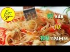 Ешь и Худей! Великолепный Ужин на 97 Калорий! Фунчоза с Курицей и Овощами. ПП Рецепт