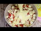 Яблочный пирог без масла - очень просто и доступно.