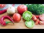 Салат на зиму из незрелых помидоров. Возьмите зеленые неспелые помидоры и приготовьте вкусный салат!