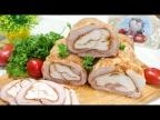 Обычное мясо превращается в изысканное блюдо! Вместо колбасы готовлю рулет из двух видов мяса!