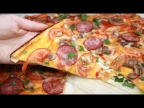 Пицца на тоненьком тесте без раскатки, все очень просто.