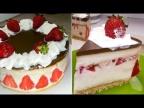 Клубничные рецепты: Торт без выпечки с Клубникой и бананами