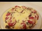 Пицца на сковороде. Простой рецепт пиццы за 10 мин.